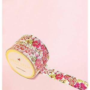 Tropischer Vintage Blumen Washi Tape for Planning • Planer und Organizer • Scrapbooking • Deko • Office • Party Supplies • Gift Wrapping • Colorful Decorative • Masking Tapes • DYI (15mm breit - 10 Meter)