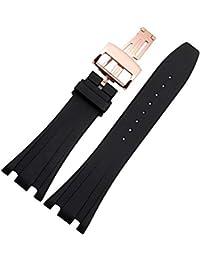 Hard-Working Pink Square Crocodile Grain Watch Strap With Nubuck Lining 16mm 18mm 20mm 26mm Modern Design Wristwatch Bands