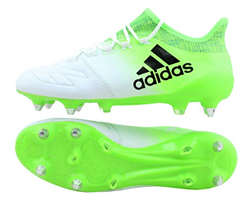 adidas X 16.1 SG Fußballschuhe BB2126 Leder Weiß Grün Neu & OVP Gr. 40