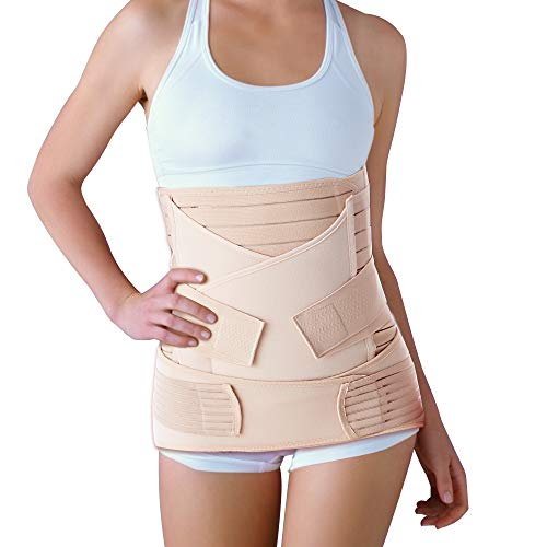 Jing Chow 3 in 1 Postpartum Belt, Postpartale Unterstützung Gürtel Postpartale Bauchwickel Postpartale Bauchband Recovery Bauch/Taille/Becken Postpartale Gurt Postnatale Shapewear