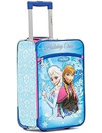 GAMME Disney Anna & Elsa Polyster 45 cms Blue Softsided Cabin Luggage (GD16RGT005)