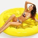 Tossi Aufblasbar runden Zitrone Riese Obst schweben PVC Verdicken schwimmende Reihe Schwimmend Liege Stuhl Wasser Spielzeuge Matratze zum Kinder und Erwachsene Gelb 150cm