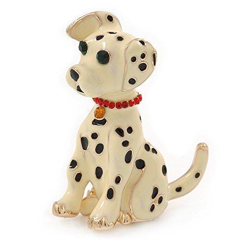 Dalmatiner Hund Kostüm Brosche