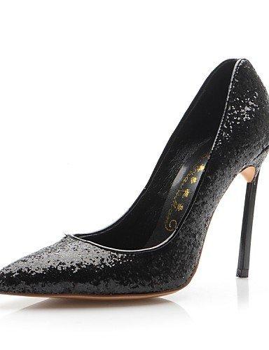 ShangYi Chaussures Femme - Mariage / Habillé / Soirée & Evénement - Noir / Multi-couleur - Talon Aiguille - Talons - Talons - Cuir Black