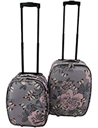 """Lightweight Expanding Large Medium Small Cabin Trolley Luggage Suitcase (Butterfly 18"""" Carry-On)"""