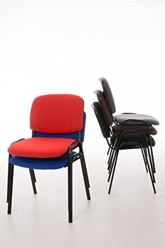 CLP Konferenzstuhl KEN V2 mit Stoffbezug und hochwertiger Sitzpolsterung | Robuster und stapelbarer Besucherstuhl | In verschiedenen Farben erhältlich Grau - 3