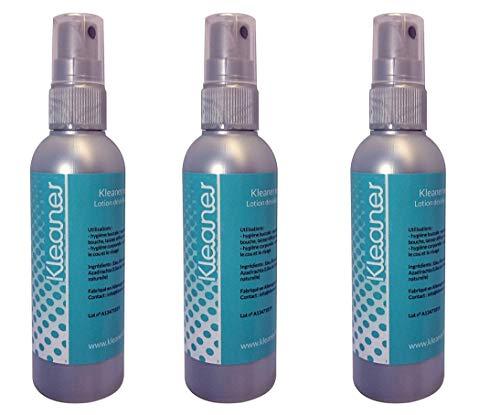 3 x Nettoyeur de Toxines salivaires/de salives Kleaner (100ml) - nettoyant toxines salivaires