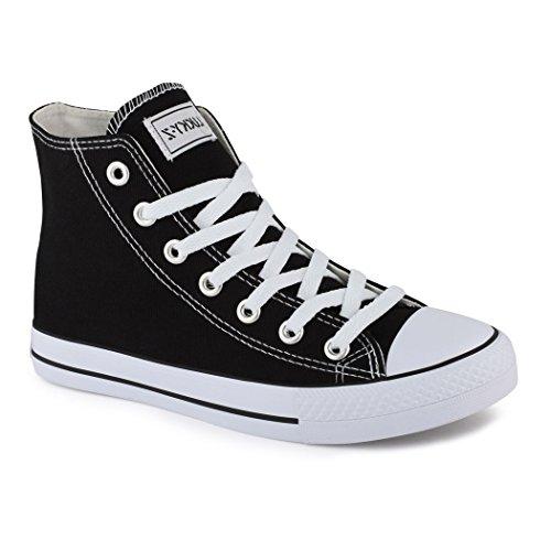 Elara Unisex Sneaker | Damen Herren | High Top | Chunkyrayan Schwarz London