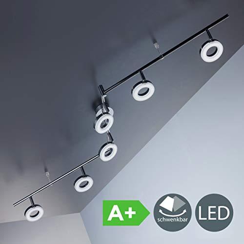 LED Deckenleuchte I dreh- & schwenkbar I Chrom I 6 x 4,5W 450LM LED Platine I IP20 I warmweiß 3000K I Deckenlampe -