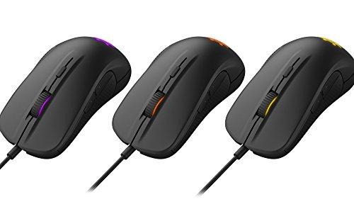 SteelSeries Rival 300 Optische Gaming-Maus (6 Tasten, Gummierte seitliche Griffflächen) schwarz - 5