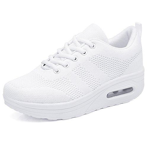 Zapatos para Mujer Cuña Cómodos Mocasines Mesh Plataforma Zapatillas Sneaker Calzado Deportiv