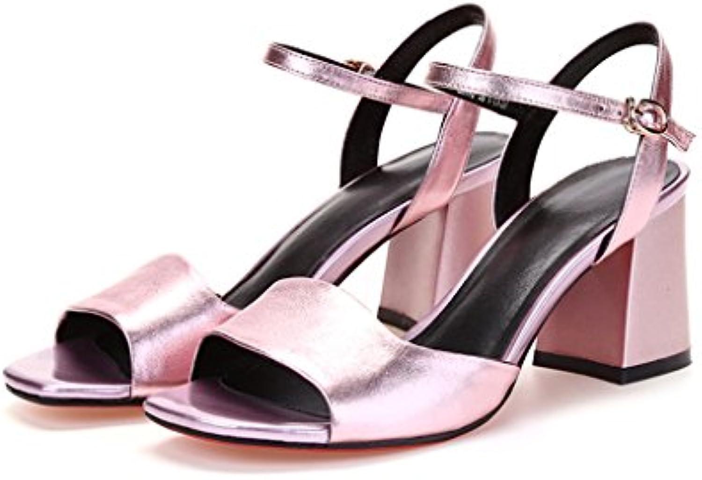 Wysm Chaussures wysm Haut à Talons Rugueux Rugueux Rugueux Avec des  s Femme Poisson Bouche Mode Fleur Fée  s 6.5cm...B07CQWX4SCParent   Promotions  afffae