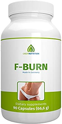 Green Nutrition- F-Burn - 90 capsules - 100% natural - guarana extract - green coffee - Vitamin B6&B12