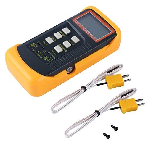 Lightleopard 6802 II Zweikanal-Digital-Thermometer 2 Thermoelement-Sonde vom Typ K -