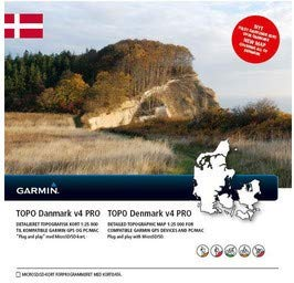 Garmin TOPO Dänemark v4 PRO Topographische Vektorkarte, schwarz, Uni -