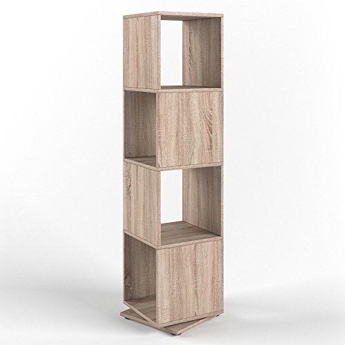 VICCO XXL Drehregal Regal 145cm hoch Ordnerregal Standregal Bücherregal Büro (Sonoma Eiche) (Bücherregal Home-office-möbel)