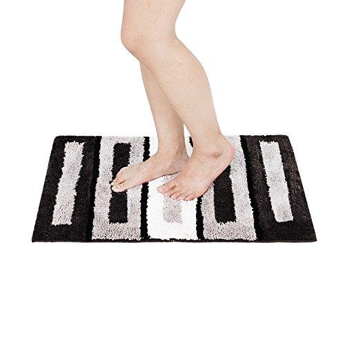 Badteppich Schwarz Wei Simple Badteppich Teppich Vorleger