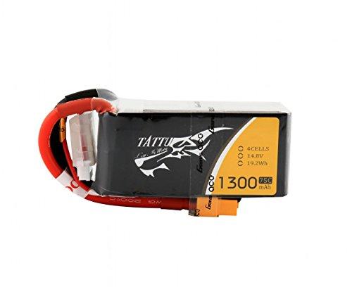 Tattu - Batería de polímero de litio de 1300mAh, 14.8V, 75C 4S1P...