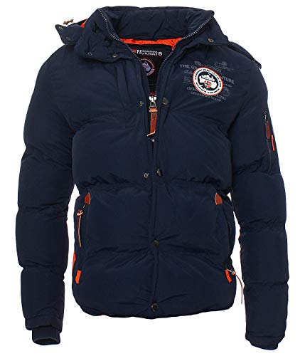 Geographical Norway Herren Winter Steppjacke Parka Verveine Kapuze navy XL