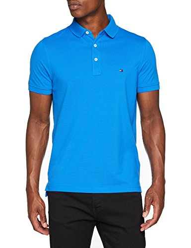 Tommy hilfiger slim polo, uomo, blu (strong blue 438), small