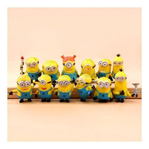 New Set of 12Pcs Despicable me 2 Cute Minions Movie Character Figures Doll Toy by Unknown by NaNa