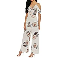 Ears Sexy Women's Summer Off Shoulder Floral Print Long Maxi Jumpsuit Strapless Jumpsuit Elegant Clubwear Jumpsuit preisvergleich bei billige-tabletten.eu