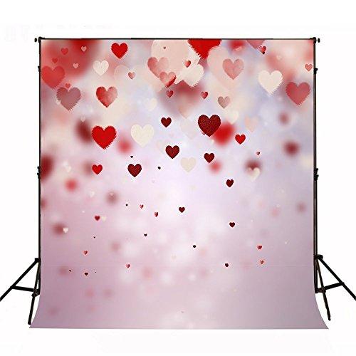 Foto Hintergrund, wcic Fotografie Hintergrund Shooting Studio Zubehör für Valentine 's Day Hochzeit Home Party, L-011, 150cmX210cm