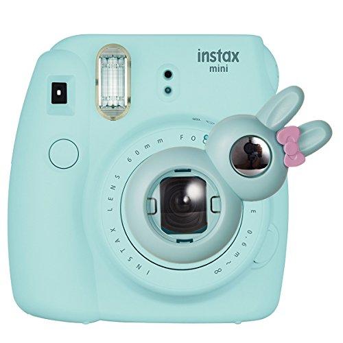 CAIUL Hase Modell Nahlinse Selfie Spiegel Linse für Instax Mini 8 8+ 9 7S und Polaroid 300 Kameras (Hellblau)