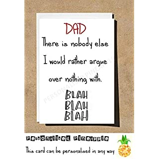 MUM/DAD CARD - NOBODY ELSE RATHER ARGE OVER NOTHING WITH