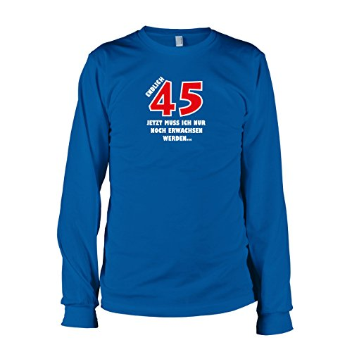 TEXLAB - Endlich 45 - Langarm T-Shirt Marine