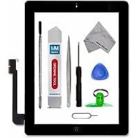 Digitizer e schermo tattile frontale in vetro - Inclusi: pulsante home e cavo flessibile + sostegno camera per iPad 3 Nero