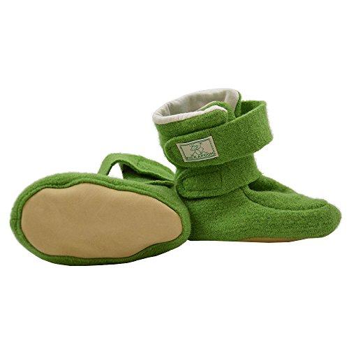 PICKAPOOH Baby Puschen aus Wollwalk kbT (3, Beere) Grün
