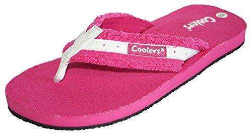 Kühler Frauen Toe Post Flip Flop Pool Strand Schuh Sandale Größe 3-8 Fuchsia