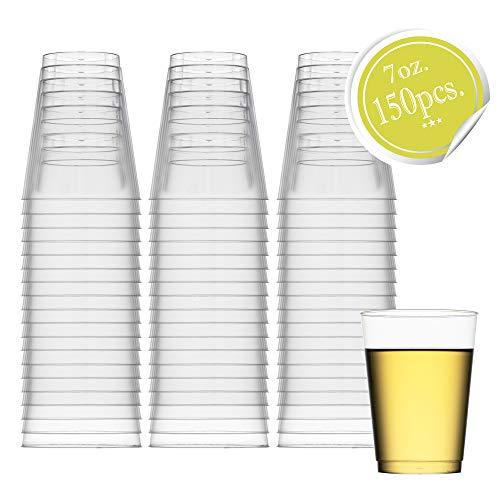 ststoff, 200 ml Plastikbecher, für Partys, Hochzeiten, Cocktails, 50 Stück 150pk farblos ()