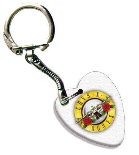 Guns N Roses Love Heart Gitarre Pick Plektron Schlüsselring (Pick Guns)