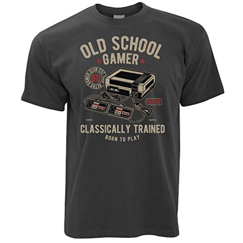 Old School Game Classically Trained T-shirt, many colours - S to 5XL