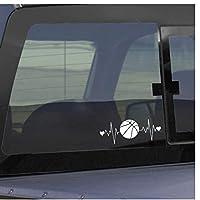 Zjxyz 2 Pcs Set Interesting Heartbeat Lifeline Basketball Car Sticker Decor 16.2 * 6.2Cm