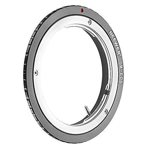 Neewer® Bague d'Adaptateur d'Objectif pour Olympus OM Zuiko Objectif à Canon EOS EF Caméra, Convient pour Canon EOS 1D 1DS Mark II III IV 5D Mark II 7D 40D 50D 60D 70D 550D 600D 650D 700D 100D