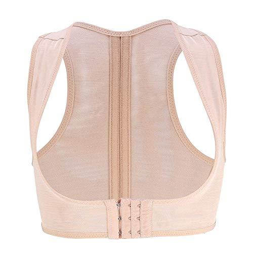 Einstellbar Rückenstütze Korrektur Geradehalter BH Push Up Brust Unterstützung Haltungskorrektur Schulter Nacken Gürtel für Damen(S) -
