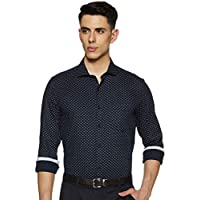 Diverse Men's Printed Slim fit Formal Shirt (DCMFF06SC09L03-804_Navy 40)