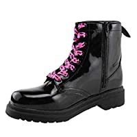 Girls Winter Snow Boots Kids Ankle Boots Waterproof Rain Boots Platforms Martin Boots Zipper (Color : Black, Size : 12.5UK=31 EU)