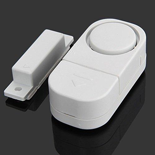 Gezichta Wireless Home Security Alarmanlage DIY Kit Smart House Wireless Fenster Tür Eingang Einbrecher Security Alarmanlage Magnet Sensor für Zuhause, Auto, Schuppen, Wohnwagen (weiß), weiß Diy Wireless-alarm-kit