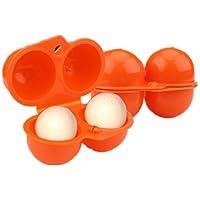 2x2pcs Caja de Almacenamiento para Huevos Contenedor para Picnic Camping al Aire Libre ( Color : Naranja )