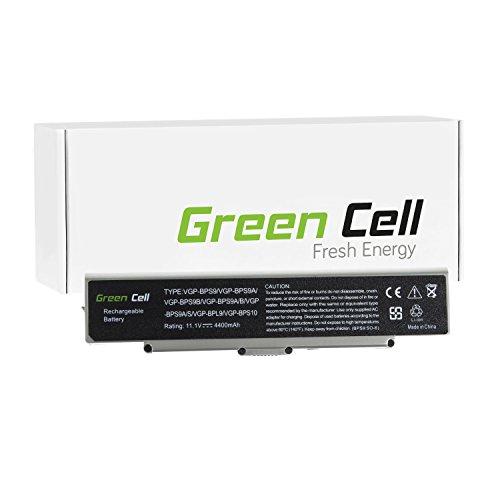 Green Cell® Standard Serie VGP-BPS10B VGP-BPS9 VGP-BPS9/B VGP-BPS9/S VGP-BPS9A VGP-BPS9A/B VGP-BPS9A/S VGP-BPS9A3 VGP-BPS9B VGP-BPS9S Akku für Sony Vaio Laptop (6 Zellen 4400mAh 11.1V Silber)