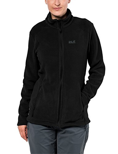 Jack Wolfskin Damen Midnight Moon Klassisch Fleecejacke, Black, L