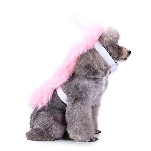 Balacoo Einhorn Hundekostüm-Halloween Einhorn Haustier Kostüm Einhorn Cape mit Kapuze Adorable Hundebekleidung Pet Supplies-Pink Größe L (Männliche Einhorn Kostüm)