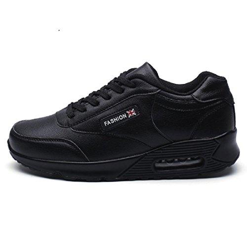 Herren Freizeitschuhe Flache Schuhe Mode Ausbildung Laufschuhe Black