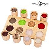 NEU! Montessori Spielzeug - Holzspielzeug zum Fühlen und Sortieren. Pädagogisches Lernspielzeug / Motorikspielzeug - 1 2 3 4 Jahre für Mädchen und Jungen