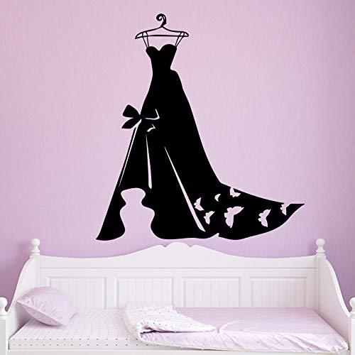 WSLIUXU Damen Abendkleid Tapete Tapete Hauptdekoration Für Schlafzimmer Kleiderschrank Wandmalereien Weiß XL 58 cm X 63 cm