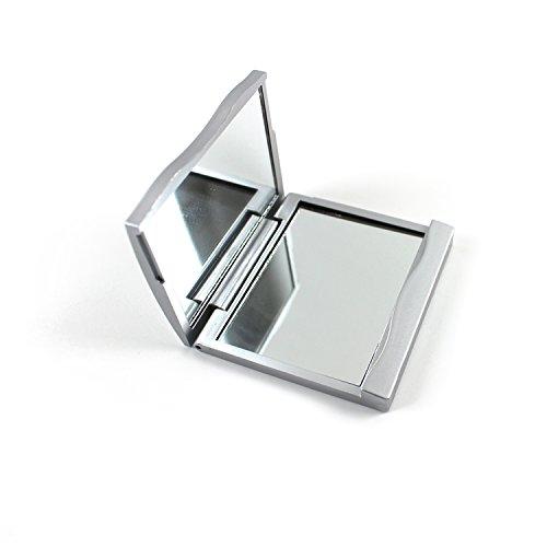 Klappspiegel zum Schminken, kompakter Kosmetikspiegel, normal und Vergrößerungsspiegel